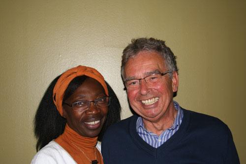Dr. Mary Asyio-Vogel (2. Vorsitzende) und Hans-Peter Büge (1. Vorsitzender)